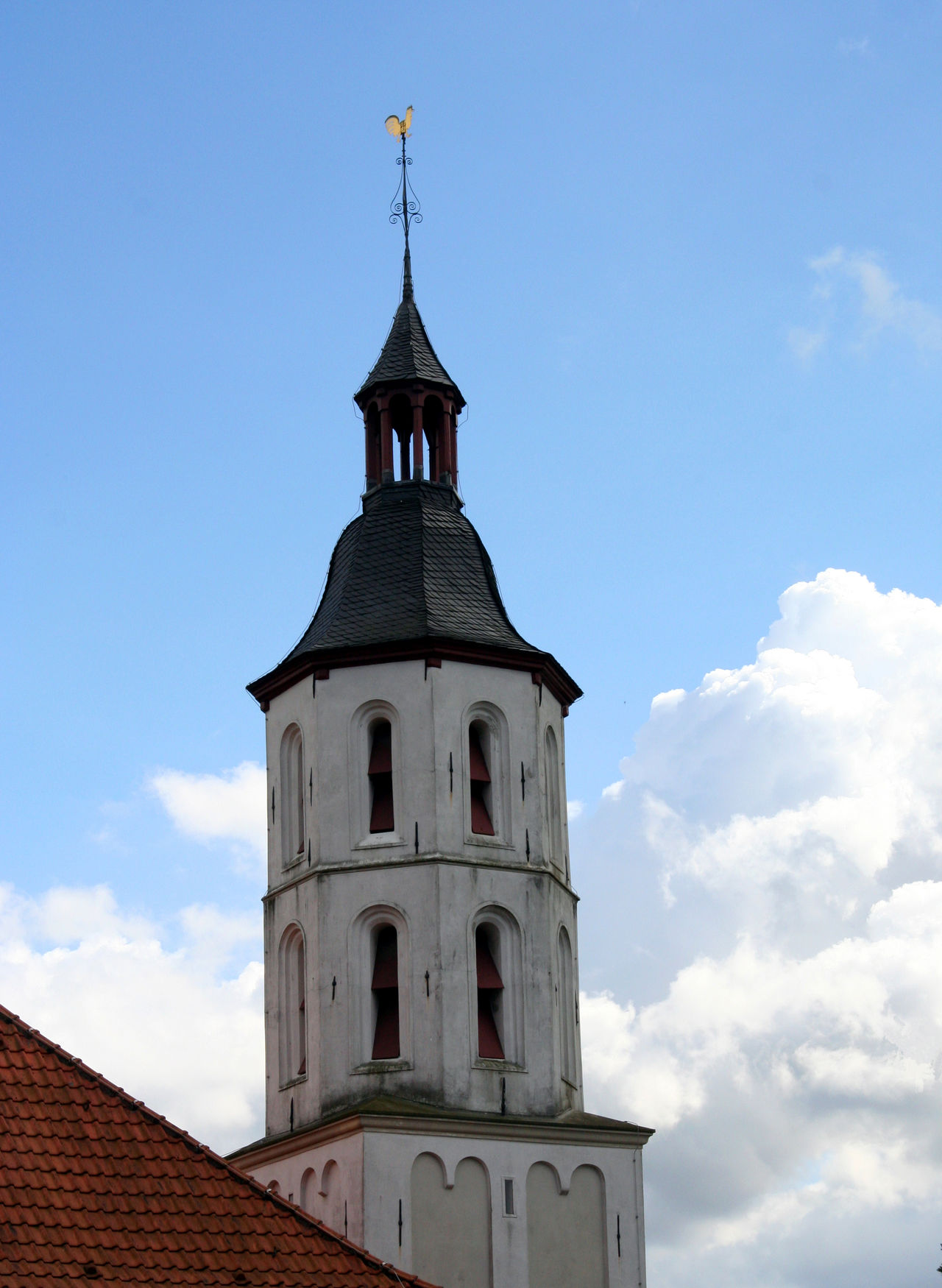 White Steeple Architecture Bell Tower Building Exterior Built Structure Catholic Catholic Church Catholicism Christian Christianity Clock Tower Cloud - Sky Faith Germany Low Angle View No People NRW Place Of Worship Religion Roof Spire  Spirituality Steeple Weathercock White Xanten