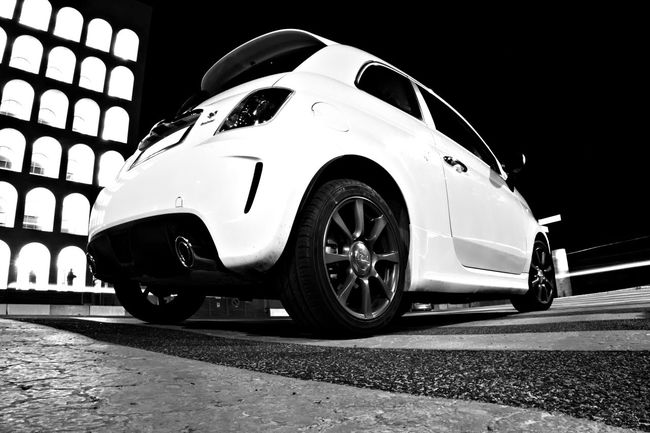 500 Abarth Abarth595 Black And White Custom Cars Fiat Italian Car Monochrome Monochrome Photography No People Product Photography Rome Rome Italy Sport Edition Sport Vehicle Transportation Transportation Vehicle Tuning Tuning Cars