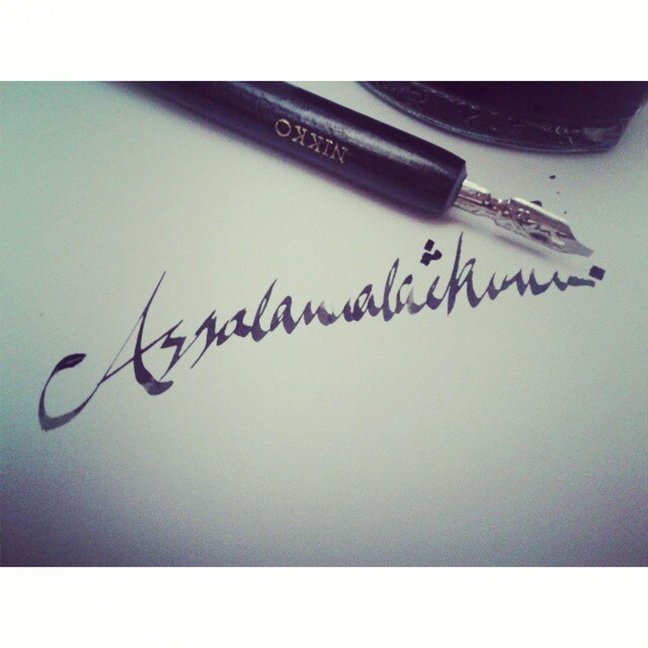 Dah lame tak buat kaligrafi Assalamualaikum Calligraphy Nibpen