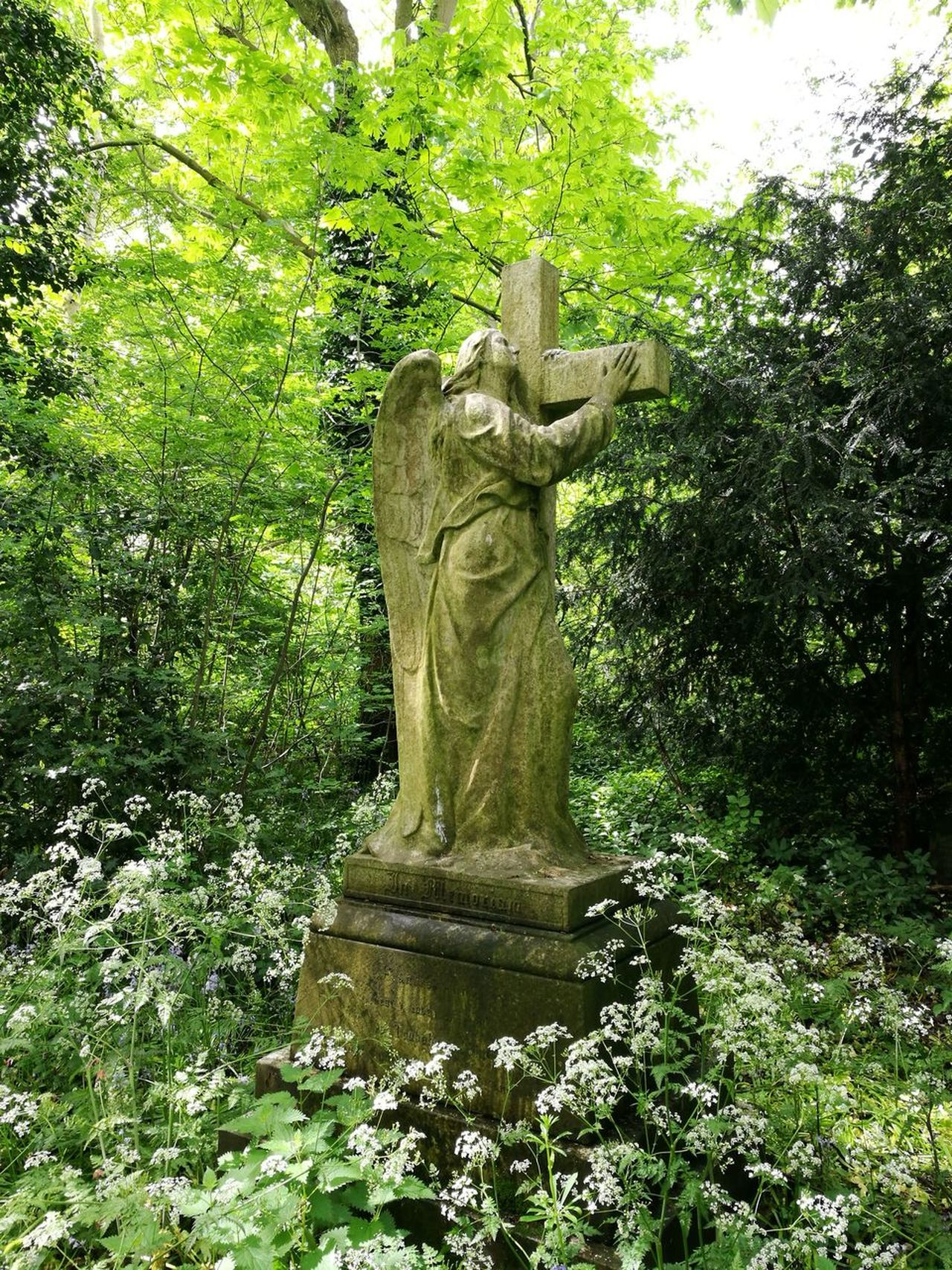 Statue Sculpture Art And Craft Human Representation No People Outdoors Tree Nature Growth Day Graveyard Beauty St Michaels Curch Lichfield