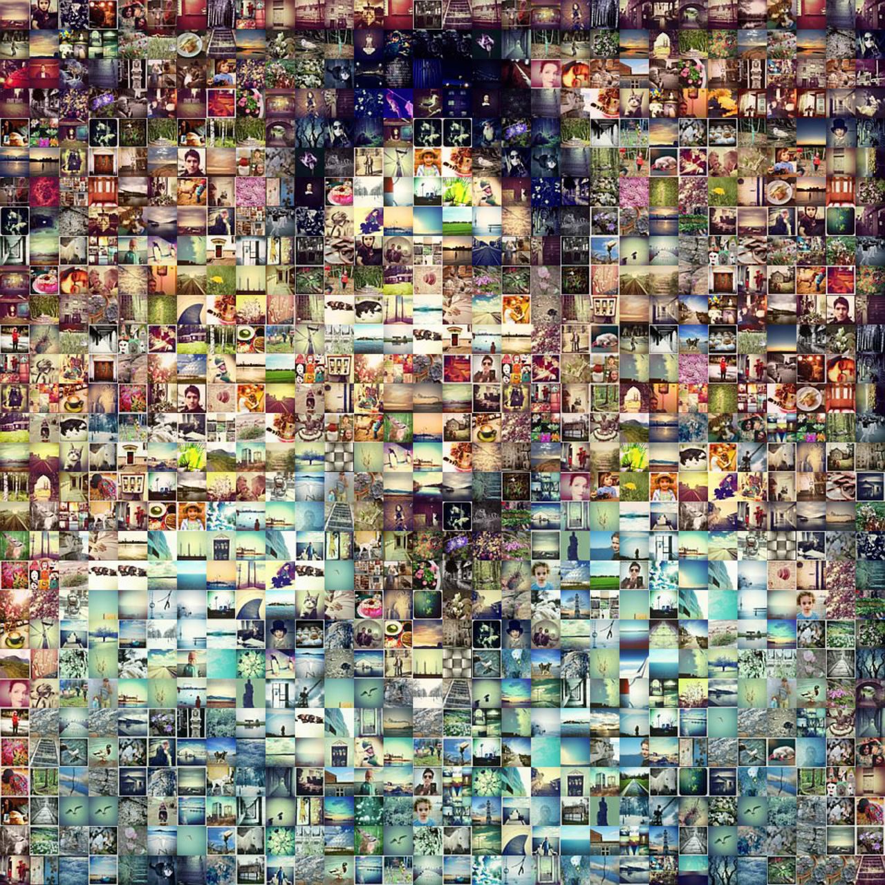 Instagram Me Mozaik Pixelate Portrait Selfie