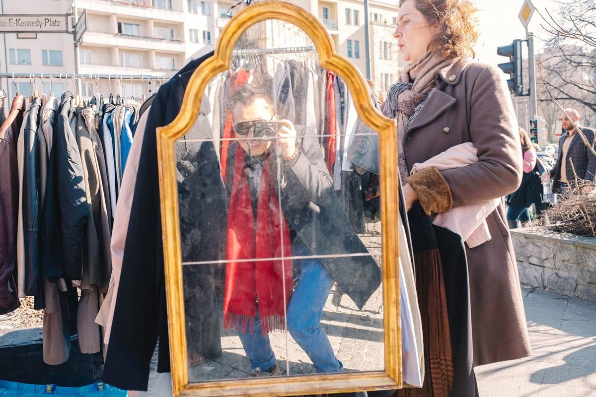 Gotcha! Me, My Camera And I Selfie Self Portrait EyeEm Best Selfie's  Flea Markets Mirrorselfie Mirror FujiX100T Streetphotography My Fuckin Berlin