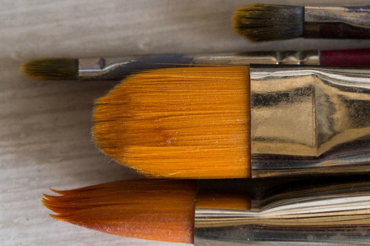 paintbrush Close-up Creativity Day Freshness Indoors  Macro Macro Photography No People Paint Paintbrush Still Life Table Tool Work Tool