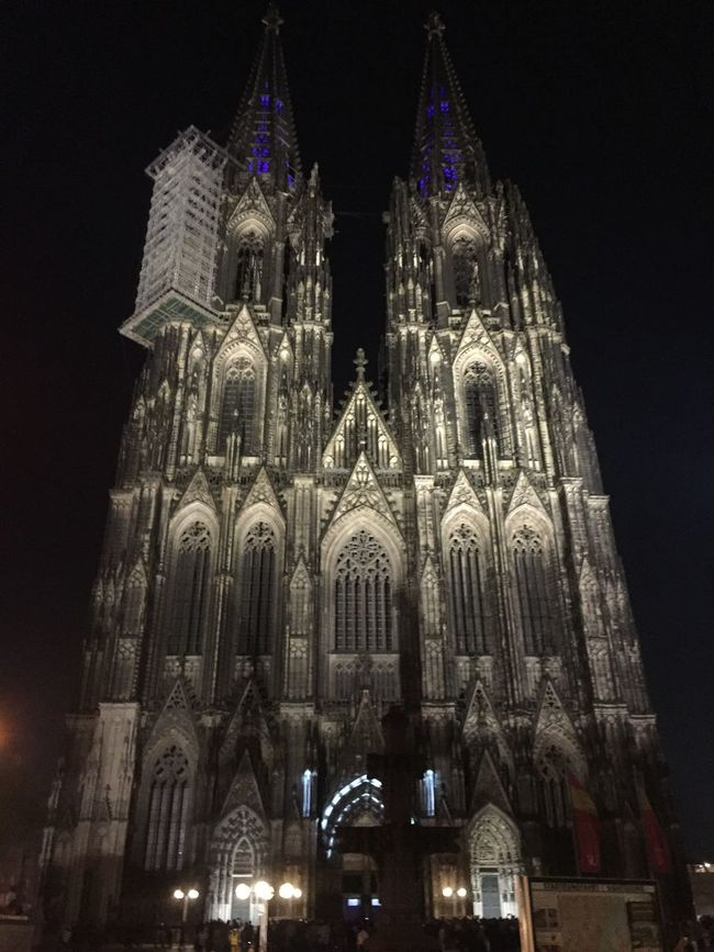Two Is Better Than One Sidebyside Cologne Cathedral Worldheritage UNESCO World Heritage Site Tower Twins Gothic Architecture Church Cathedral No People Night Sightseeing