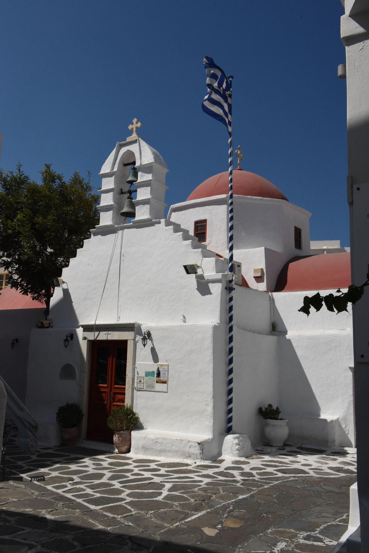 Aegean Aegean Islands Aegean Sea Blauer Himmel Blue Sky Church Greece GREECE ♥♥ Hellas Kirche Kykladen Kyklades Mykonos Mykonos,Greece Places Platz Straße Street ägaisches Meer ägäis ägäische Inseln