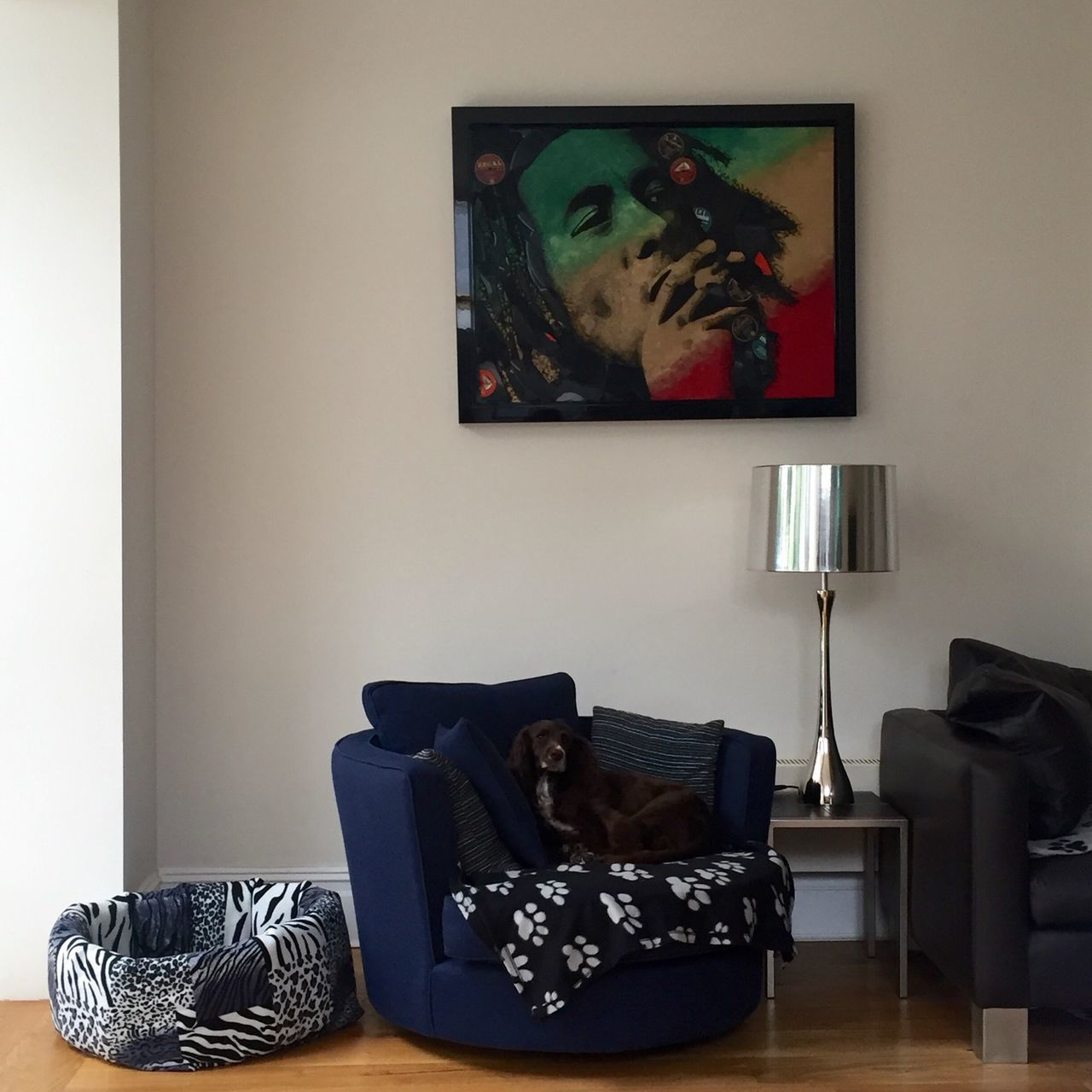 Bob Marley RASTA Modern Architecture Modern Living London Home Interior Design Dog Puppy Sofa Lamp