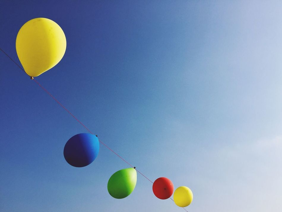 Balloons Sky Summer Freedom Air Colors