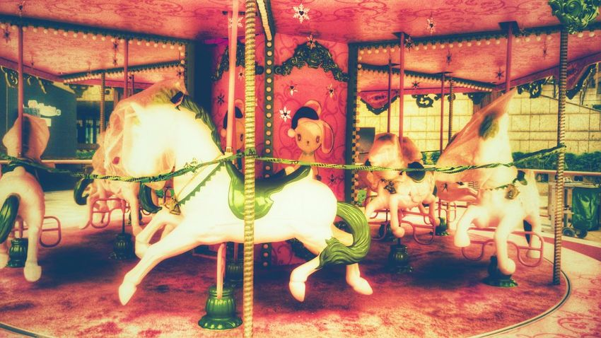 No People Carousel Carousel Horses Outdoors Retro Retro Style Amusementpark Take Photos Walking Around Lightandsadow Pink Color Pink Pink Pink  Happy Time