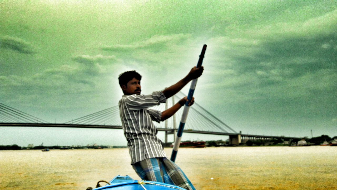 TheSailor Herooftheday HowrahBridge Kolkata Boats And Clouds Boat Ride River View Ganga River