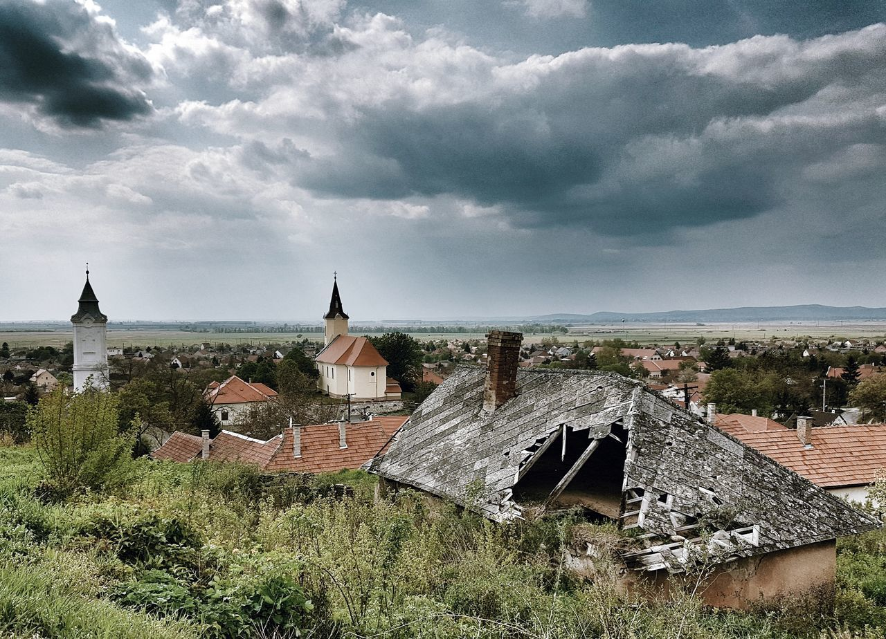 History Cloud - Sky Outdoors Architecture No People Day Building Exterior Built Structure Nature Town Village Roof Church The Great Outdoors - 2017 EyeEm Awards The Architect - 2017 EyeEm Awards