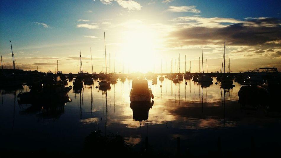 Sunset baywalk