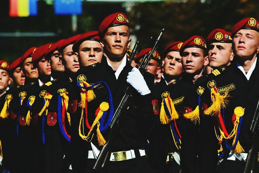 Parade Solider Salutes Soliders Independence Day Republic Of Moldova Celebration