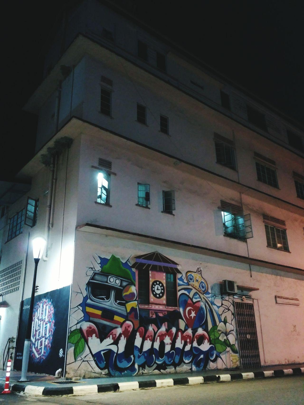 Johor ku Kluang ku Malaysia ku Night Peace ✌ Kluang JohorAwesome Malaysia Built Structure Graffiti