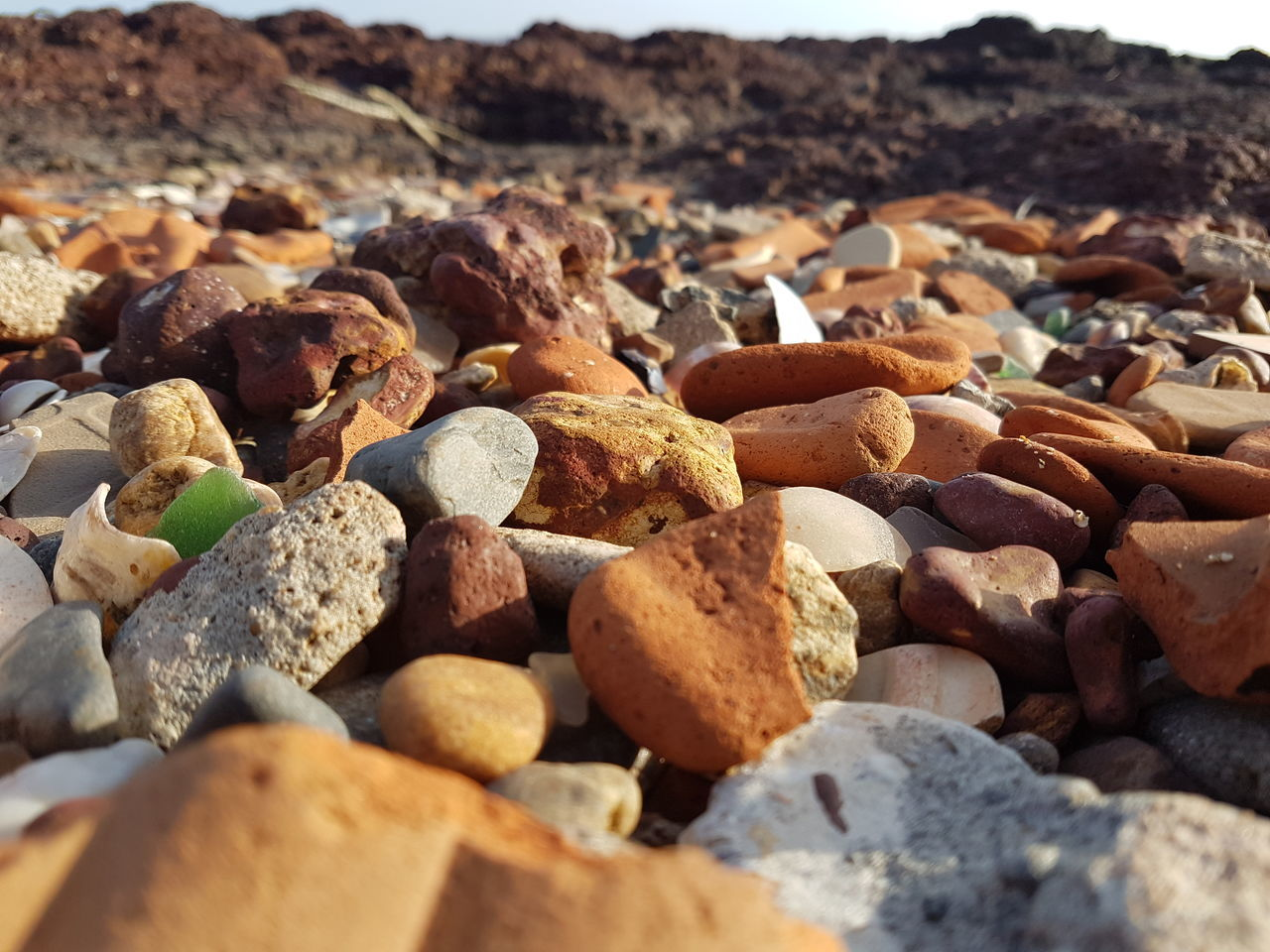 Full Frame Shot Of Pebbles On Beach