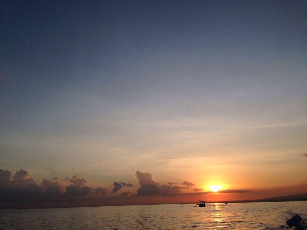 Sunrise And Clouds at Pantai Lavina