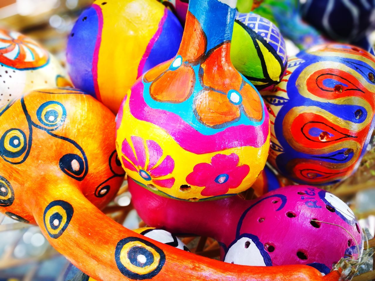 multi colored, art and craft, close-up, no people, easter, variation, large group of objects, paint, choice, day, indoors