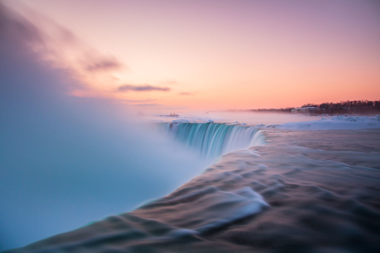 Beautiful stock photos of niagara falls, Beauty In Nature, Blurred Motion, Canada, Cold Temperature