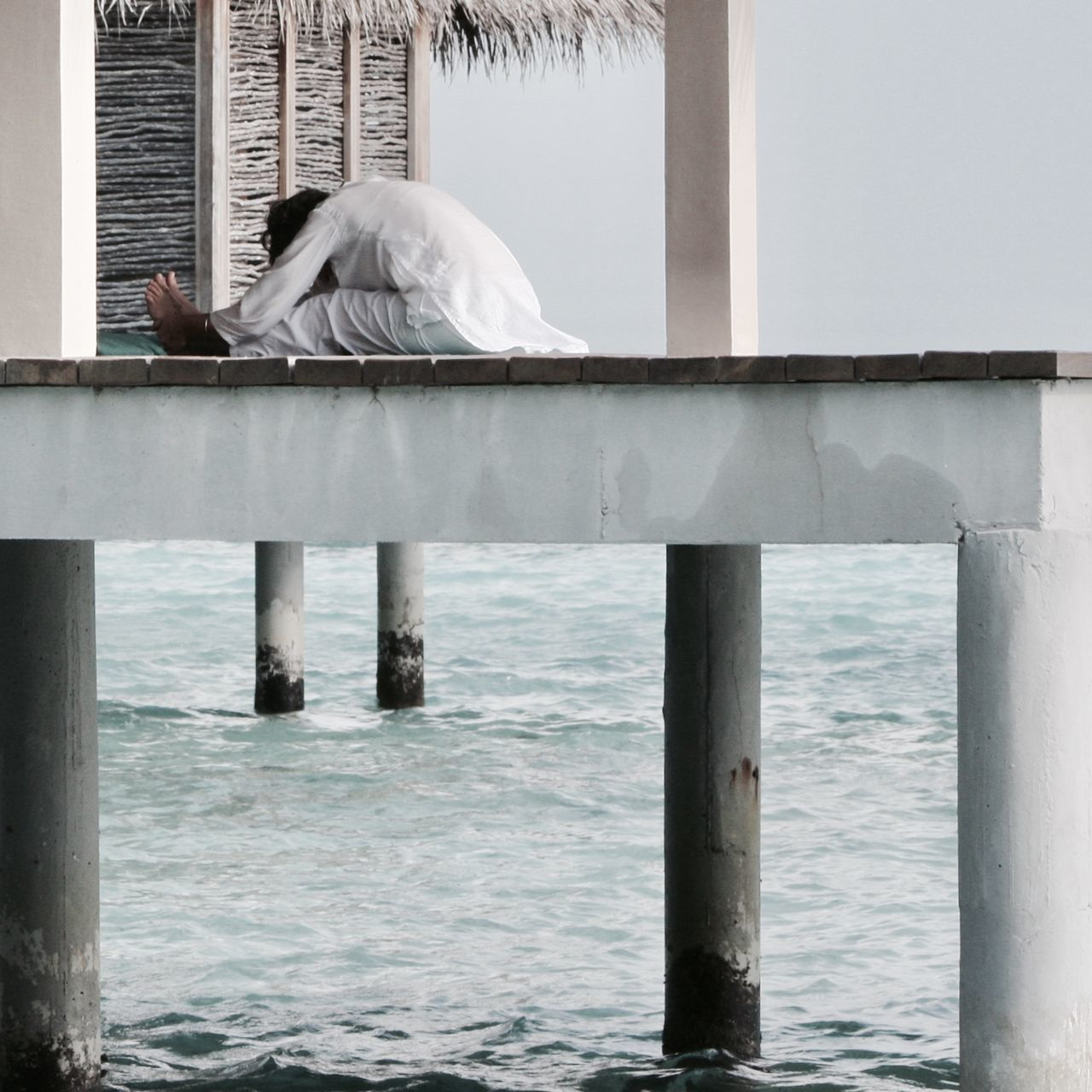 Architecture Built Structure Enjoy The New Normal EyeEm Best Shots Getting Away From It All Leisure Activity Maldives Ocean Outdoors People Sea Sport Stilt House Taking Photos Travel Unrecognizable Person Water Waterfront Wave Woman Yoga My Year My View Miles Away