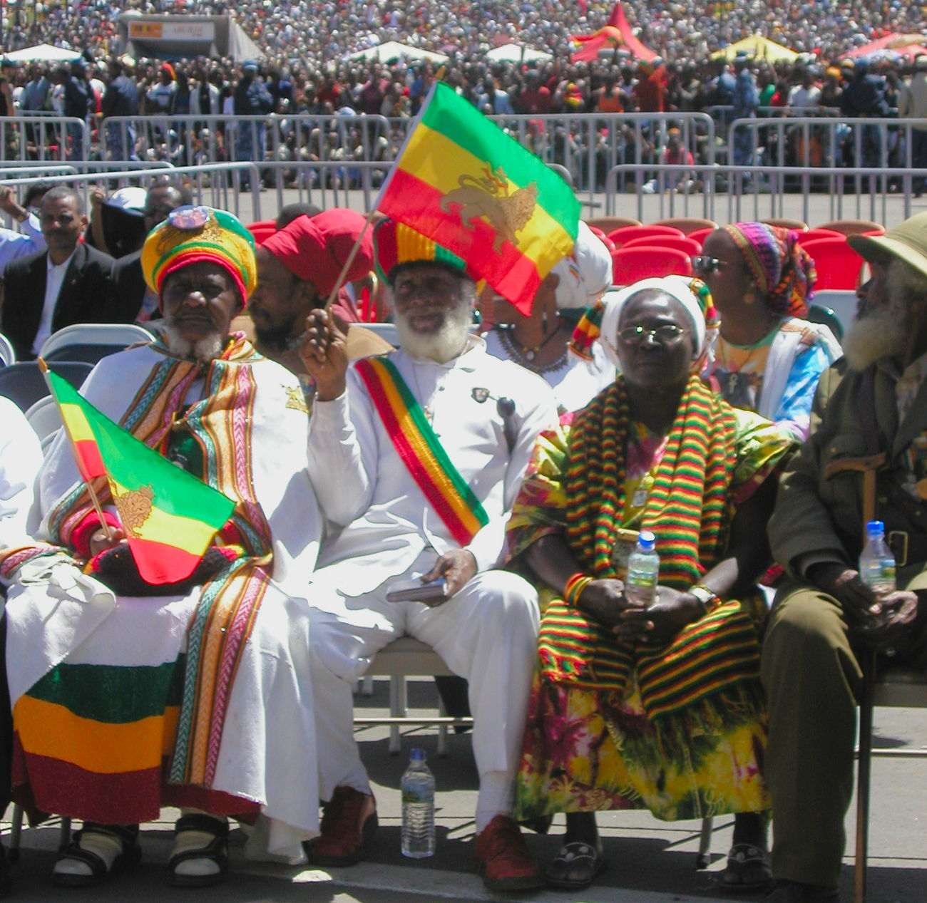 Bob Marley's 60th Brithday Celebrations Adult Bob Marley Celebration Day Elders Flag Large Group Of People Men Outdoors Patriotism People Pride RASTA Rastafari Real People Shashemane Togetherness Unity