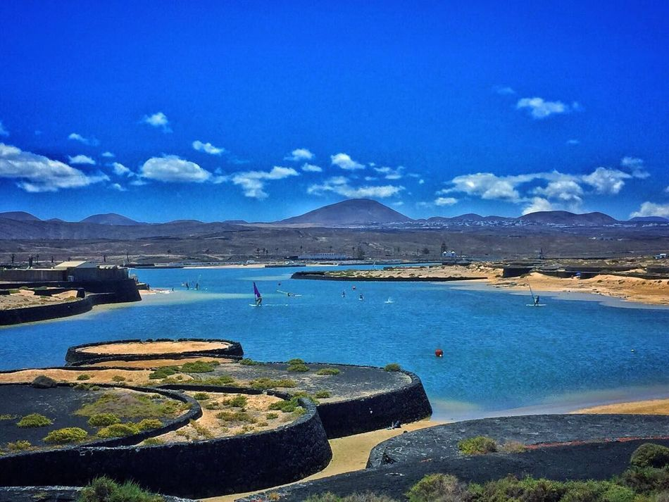 Water Blue Tranquility Scenics Canary Islands Sportvillage Lanzarote Island