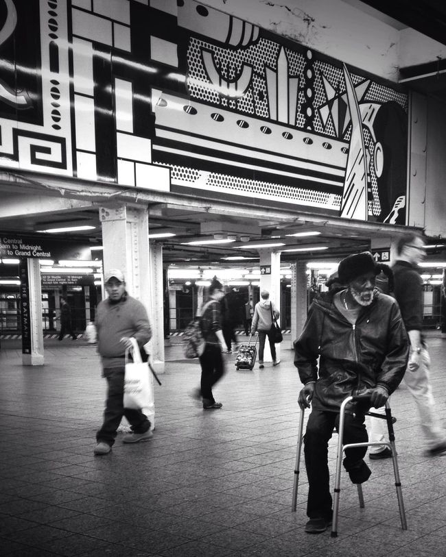 Life passing by. The Moment - 2015 EyeEm Awards Streetphotography Streetphoto_bw AMPt_community Blackandwhite New York City