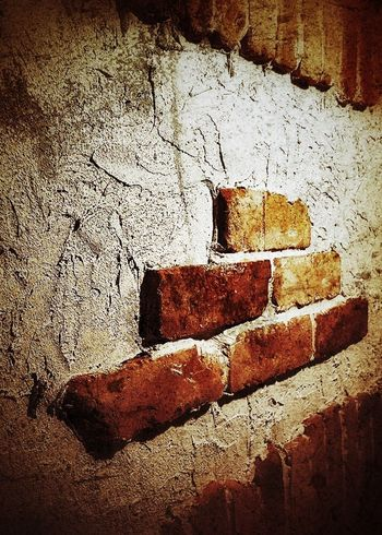 Full Frame No People Backgrounds Shadow Outdoors Close-up Day Architecture Mysterious Bricks Brick Wall Dark Darkness