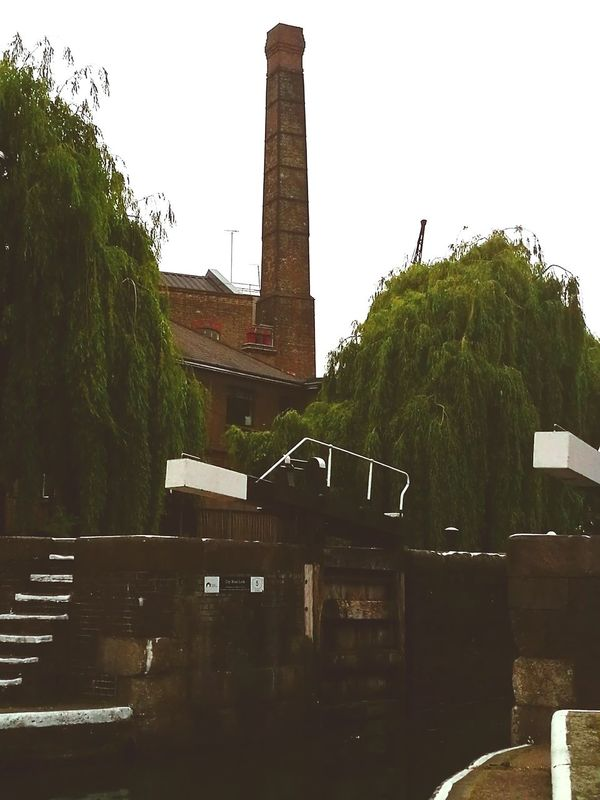 Old industrial building Architecture History Built Structure No People Tree CanalSide Canals And Waterways