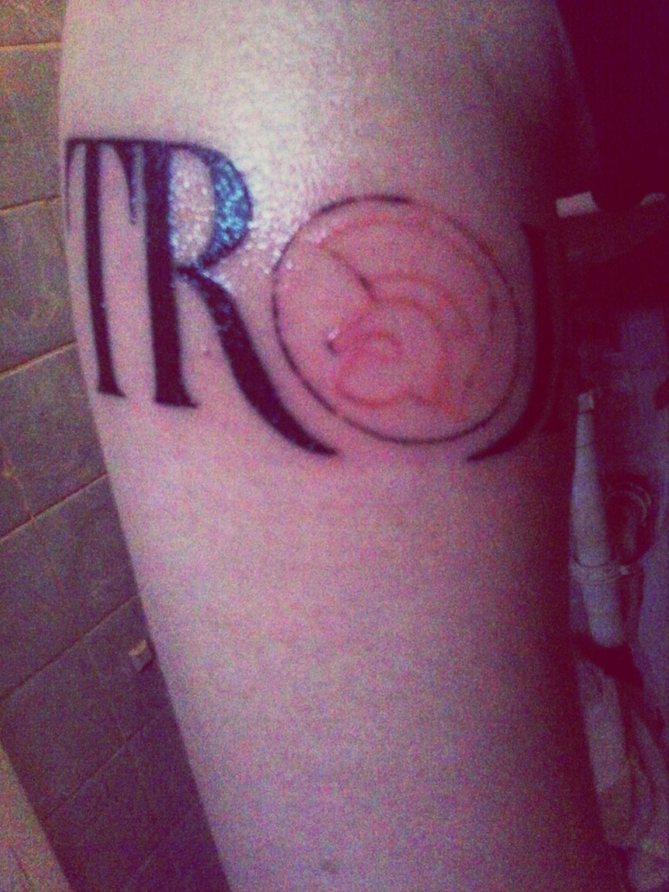 Trojan Record Label On My Lower Arm.large Breaker Point
