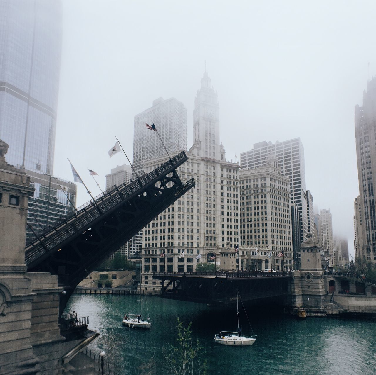 Beautiful stock photos of chicago skyline, Architecture, Bridge - Man Made Structure, Building Exterior, Built Structure