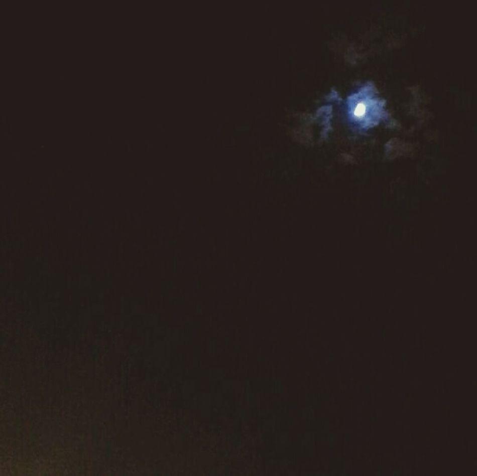 Night Sky Clouds Moon Spring Nights