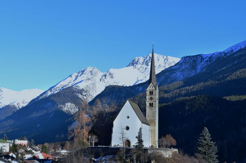 Engiadina, Scuol Beauty In Nature Clear Sky Cold Temperature Day Engadin Engadin Tourismus Engadine Switzerland Engadinerdorf Engiadina Engiadinabassa Mountain Nature No People Outdoors Sky Snow Swiss Alps Swiss Mountains Switzerland Winter