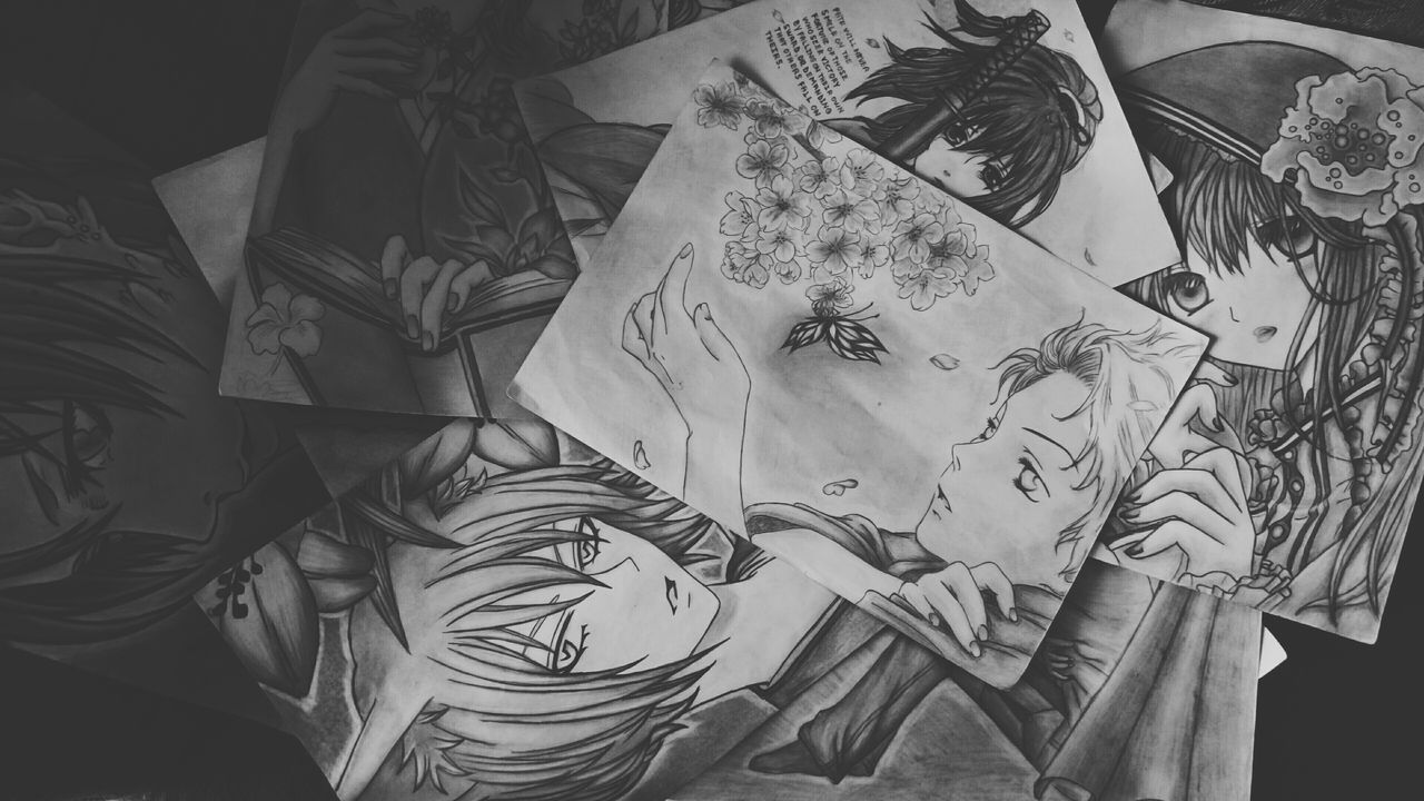 Light And Shadow Feeling Creative Open Edits EyeEm Best Shots Taking Photos Black And White Monochrome Drawings Anime Drawing KamisamaHajimemashita Black Bird Kobato Monochrome Factor Ghost Only Shinsengumi Manga Animelover