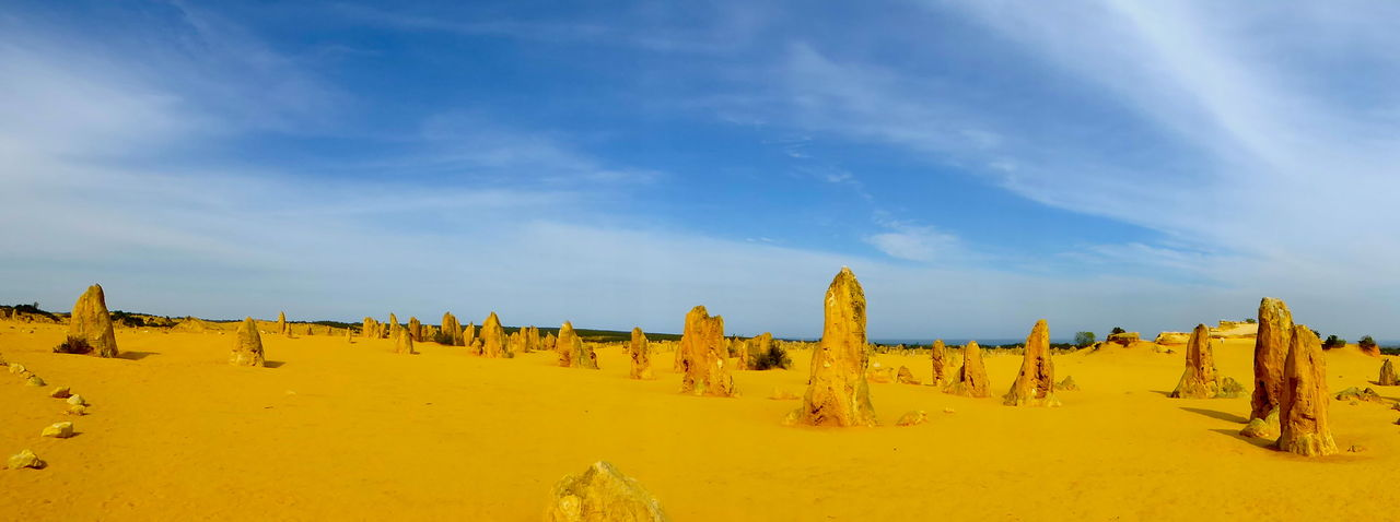 Day Geology Rocks Nature No People Outdoors Panorama Panoramic Landscape Panoramic Photography Patterns In Nature Pinnacles Pinnacles Desert Sandstone Formations Sky Tranquility