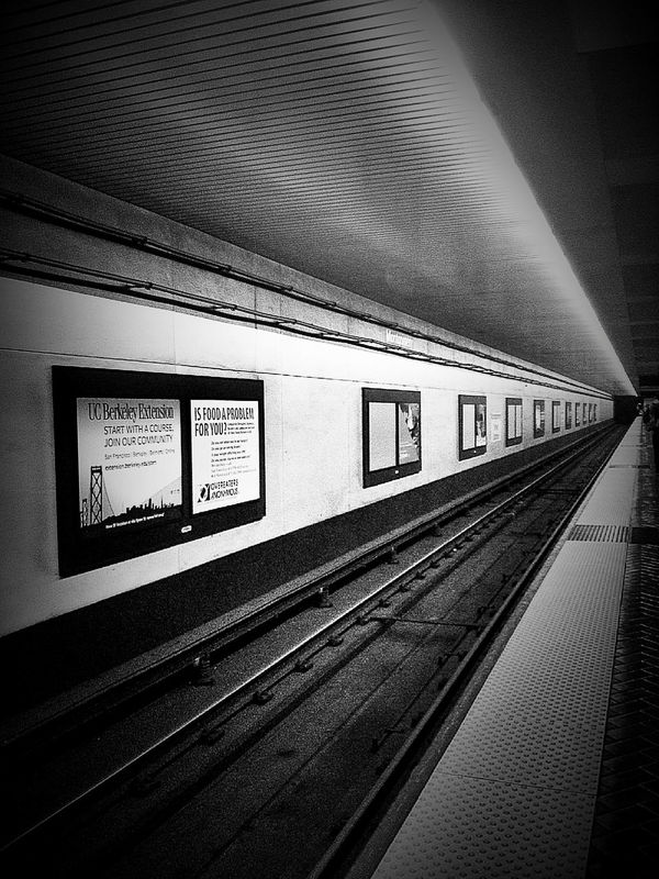 Notes From The Underground Black And White Subway Commuting