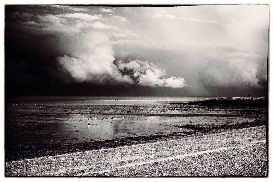 Sky Sea Black And White Landscape