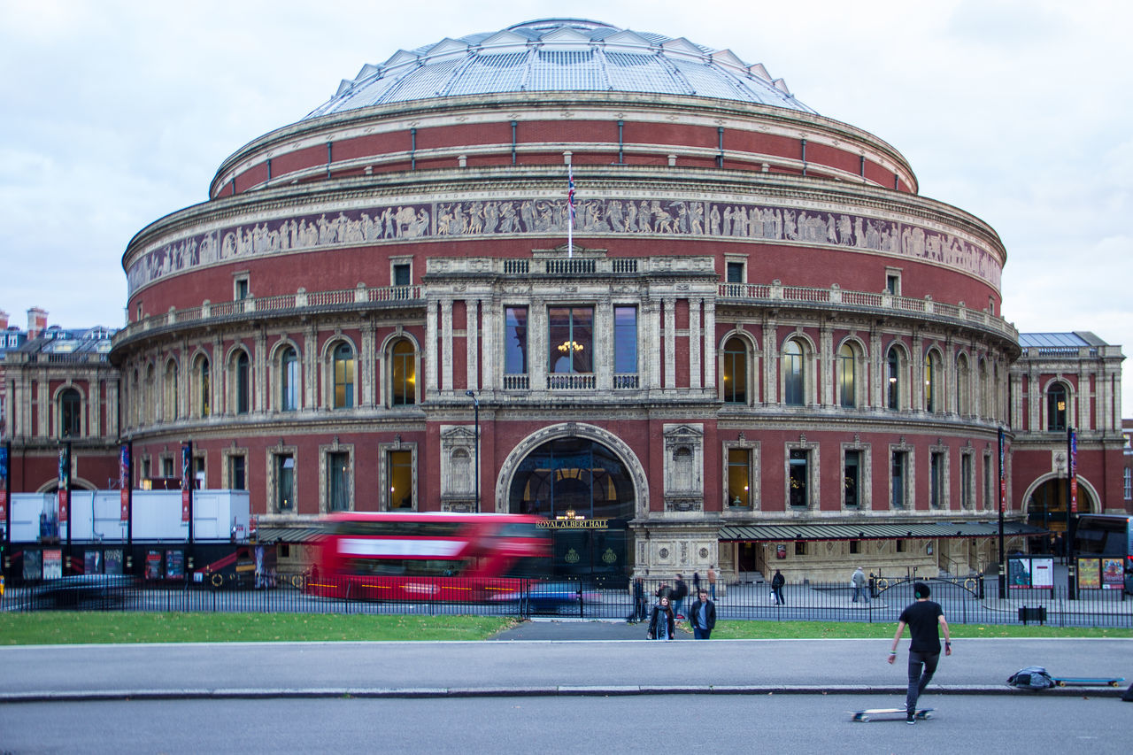 Royal Albert Hall, London, United Kingdom Architecture Building Exterior City Cityscape Cloud - Sky Concert Hall  Day Dome Façade Large Group Of People LDN London London Bus LONDON❤ Monument Outdoors People Royal Albert Hall Sky Stage Theater Tourism Travel Travel Destinations Uk United Kingdom