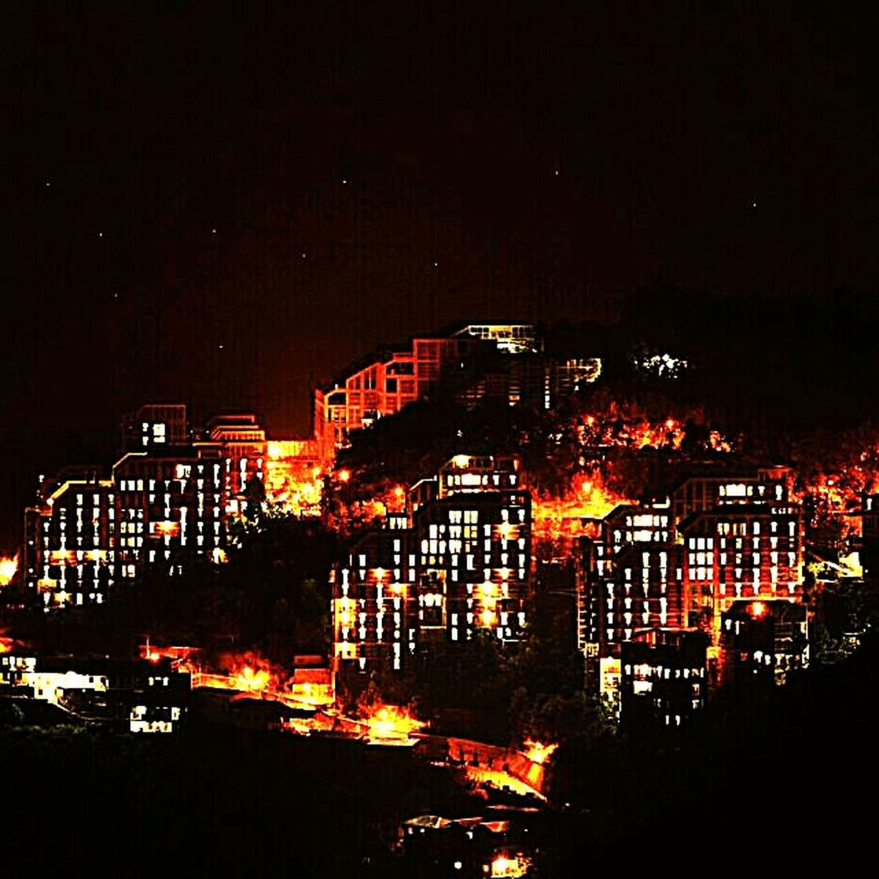Night is stiil Young. Collage_life Architecture Night City Dark Sky Illuminated Collage Diaries Night View Of Collage Himachalpradesh Shimla