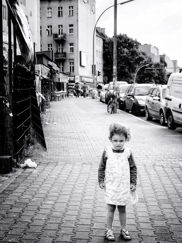 The Street Photographer - 2016 EyeEm Awards Black And White Streetphotography Berlin Notes Of Berlin Street Photography Little Girl Blackandwhite Black & White Look Monochrome Girl Power