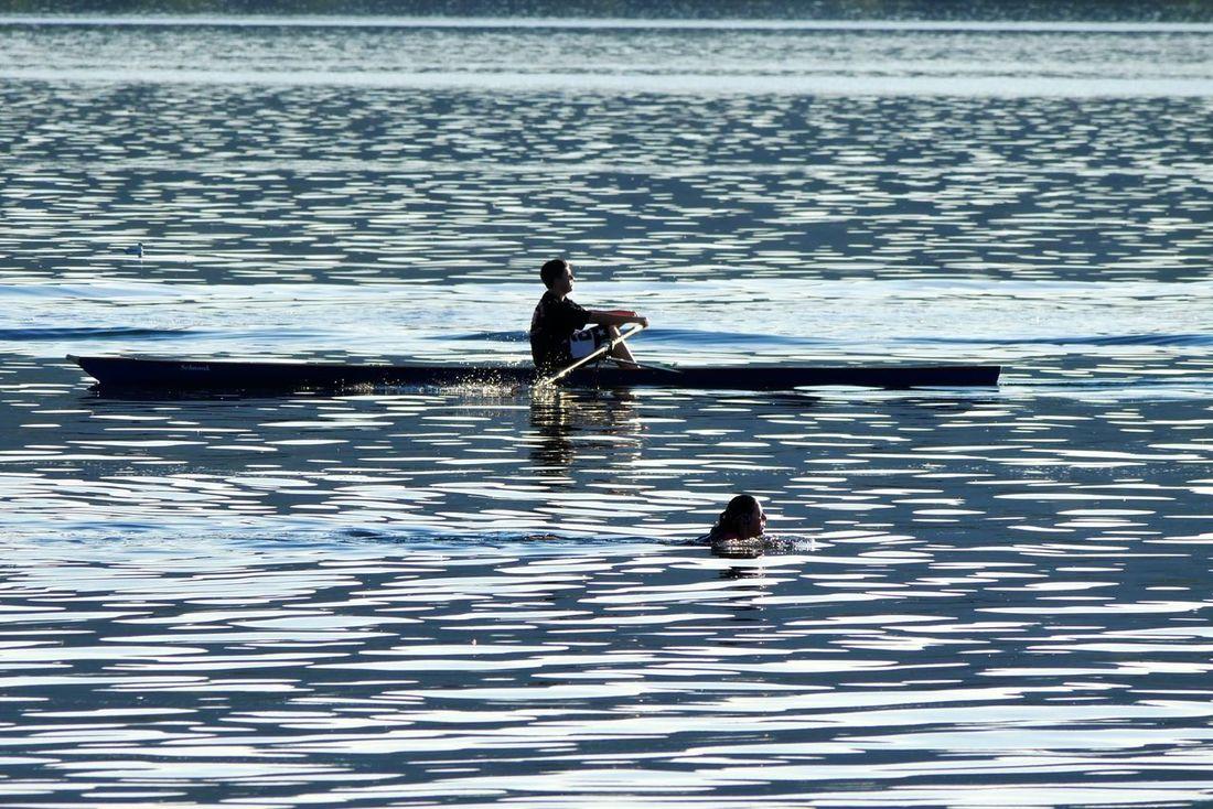 Q Quo vadis Quovadis Onlake Watersport Rowing Swimmimg Eveningmood Sundown