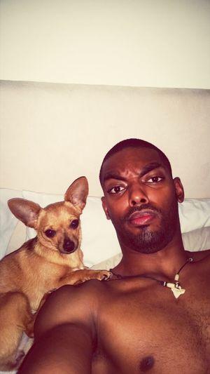 Woke up with bitch face licking my ear.. Goodmorning Wake Up Dog I Love My Dog