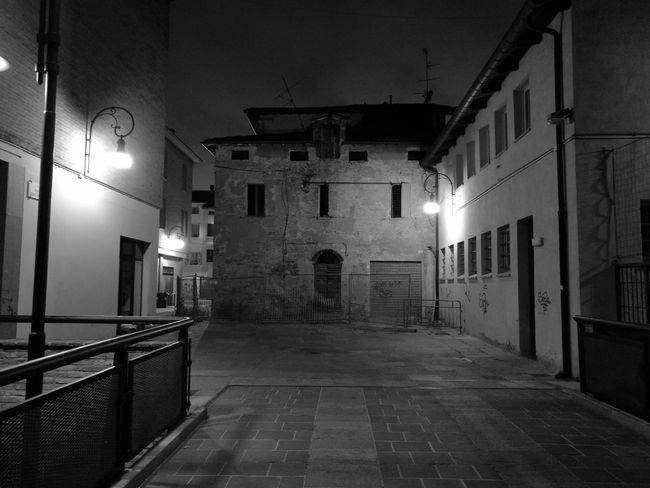 Blackandwhite Blackandwhite Photography Black&white Monochrome Rural Village Nightphotography Night Lights Italy Town Center Old Buildings First Eyeem Photo