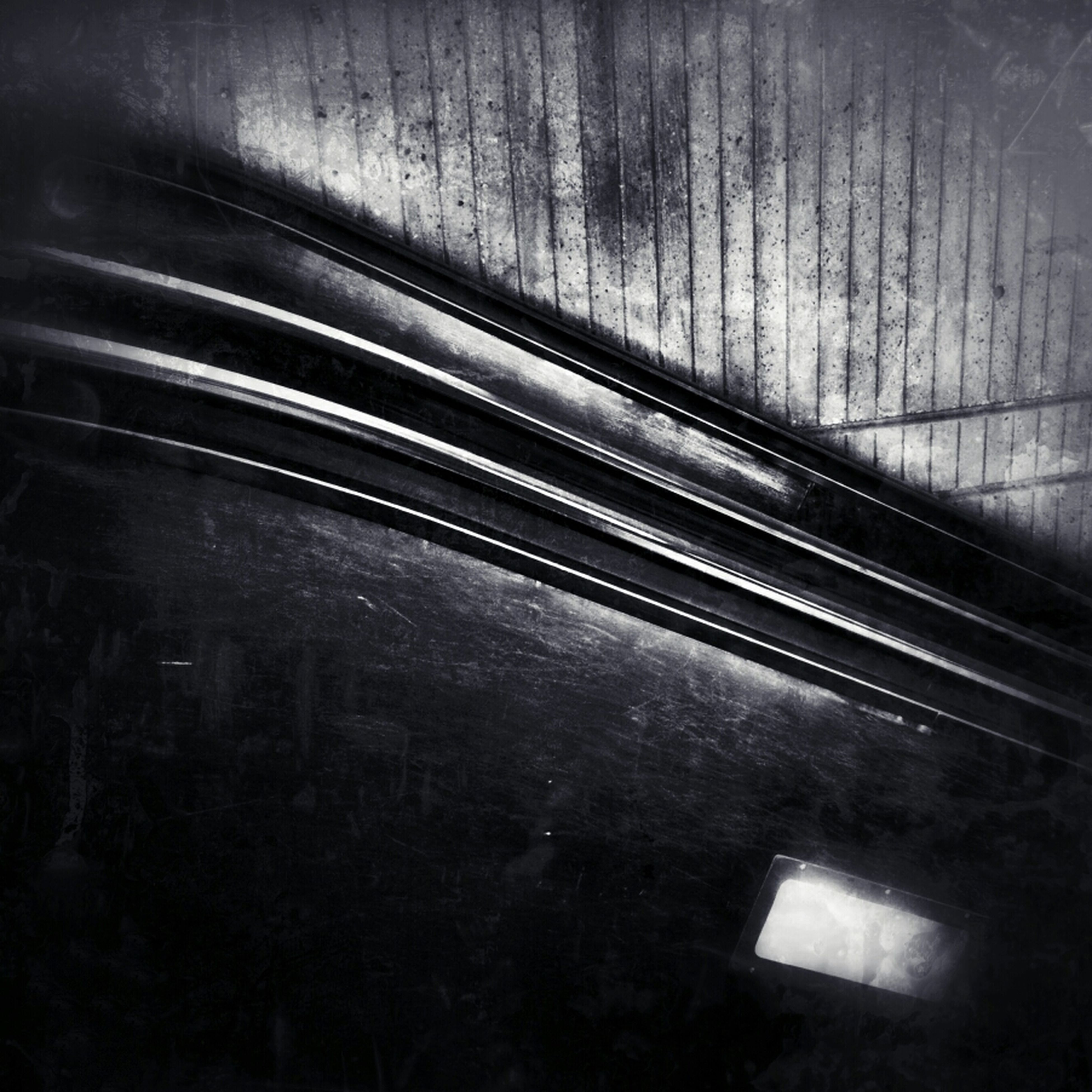 indoors, illuminated, transportation, night, wall - building feature, railroad track, subway station, subway, rail transportation, high angle view, light - natural phenomenon, railroad station, underground, no people, blurred motion, tunnel, absence, motion, the way forward, empty
