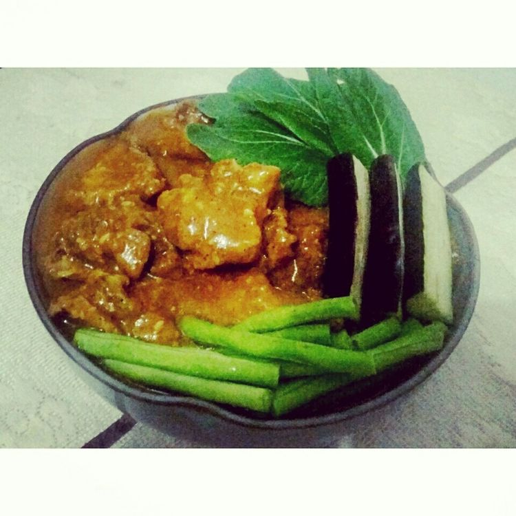 I always loved photograph-ing what I cooked. I also just want to share this. Hope everyone could appreciate my very first photo. This is one of the finest recipe in the Philippines. This is what we called Kare-Kare. 😊 Hope you like it. 😉 First Eyeem Photo