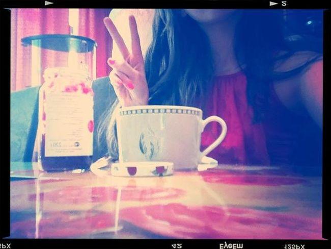 at I drink tea with MALINA