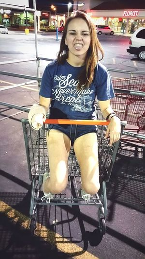 Photos That Will Restore Your Faith In Humanity my beautiful friend just enjoying being silly and taking a moment to not have to let life weigh you down. Especially after breaking her hand. What was even funnier was getting her out of the cart. I guess thats why they dont make them for 18 year olds aha