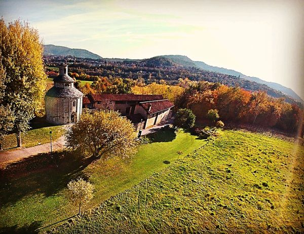 Outdoors No People Nature Sky History Historical Building Ilovebergamo Dronephotography Beautiful View Mountain Nature Aerial View InTheSky Cloud - Sky Day