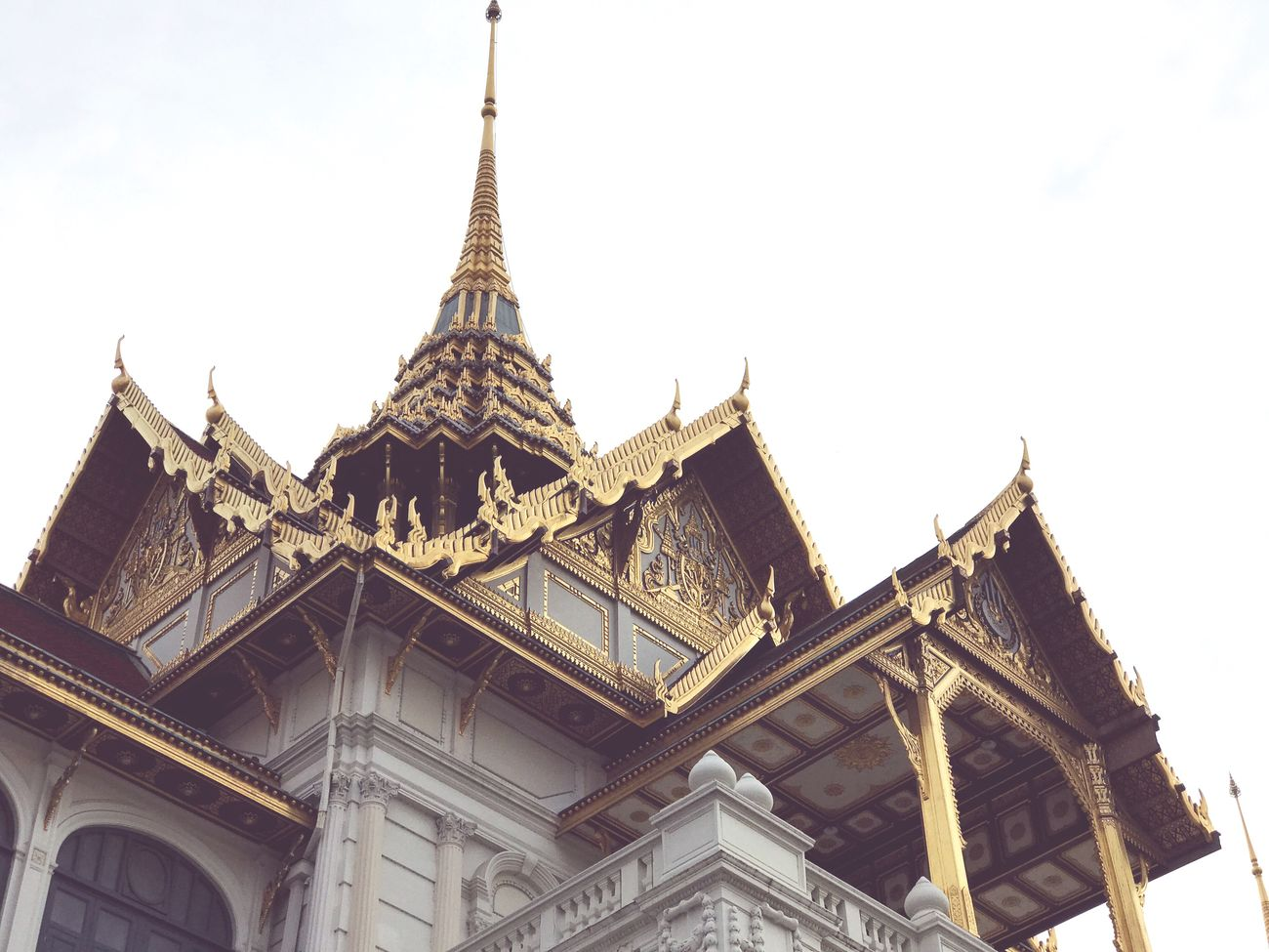 Architecture Building Exterior Built Structure Travel Destinations Travel Religion Low Angle View Spirituality Place Of Worship Sky Tourism Day Clear Sky No People Thai Style Thai Art Thai Architecture Thai Temple Thailand_allshots Thailand Grand Palace Bangkok Thailand Wat Phra Kaew Temple