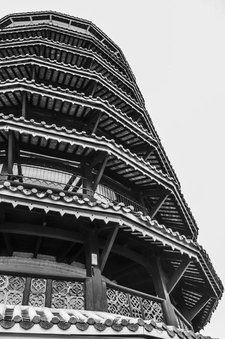 Architectural Feature Architecture Architecture Black & White Photography Black And White Photography Building Built Structure Leaning Clock Tower Low Angle View Outdoors Sky Teluk Intan Tourism Travel Destinations