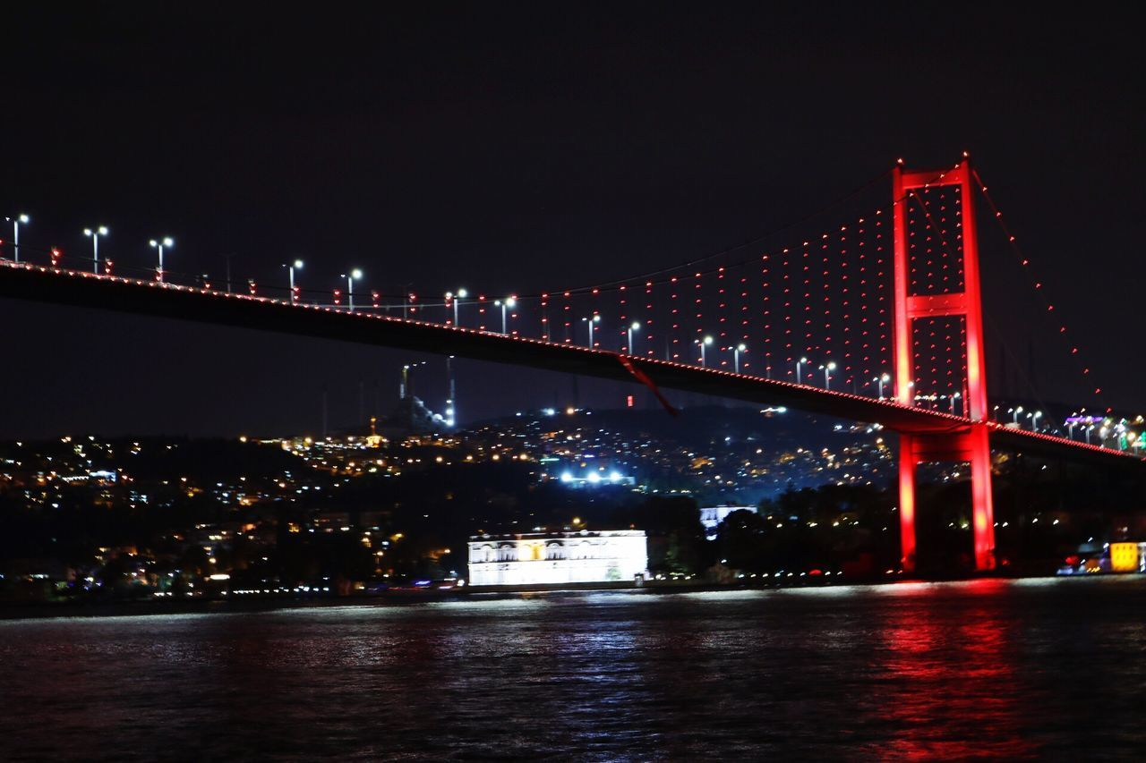 Istanbul Istanbul Turkey Night Gece City Sehir Red Boga Yasam Deniz Sea Bridge Bizimyaka Ortaköy