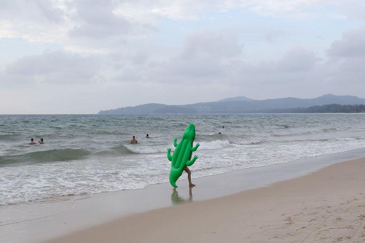 Crocodile spotted at the Bangtao Beach in Phuket, Thailand Adventure Andaman Sea Animal Bang Tao Bang Tao Beach BangTao Beach Crocodile Danger Indian Ocean Island Landscape Lifestyles Ocean Ocean View Outdoors Phuket Reptile Sea Seascape Tourism Tourists Wild Animal Wild Life Wildlife